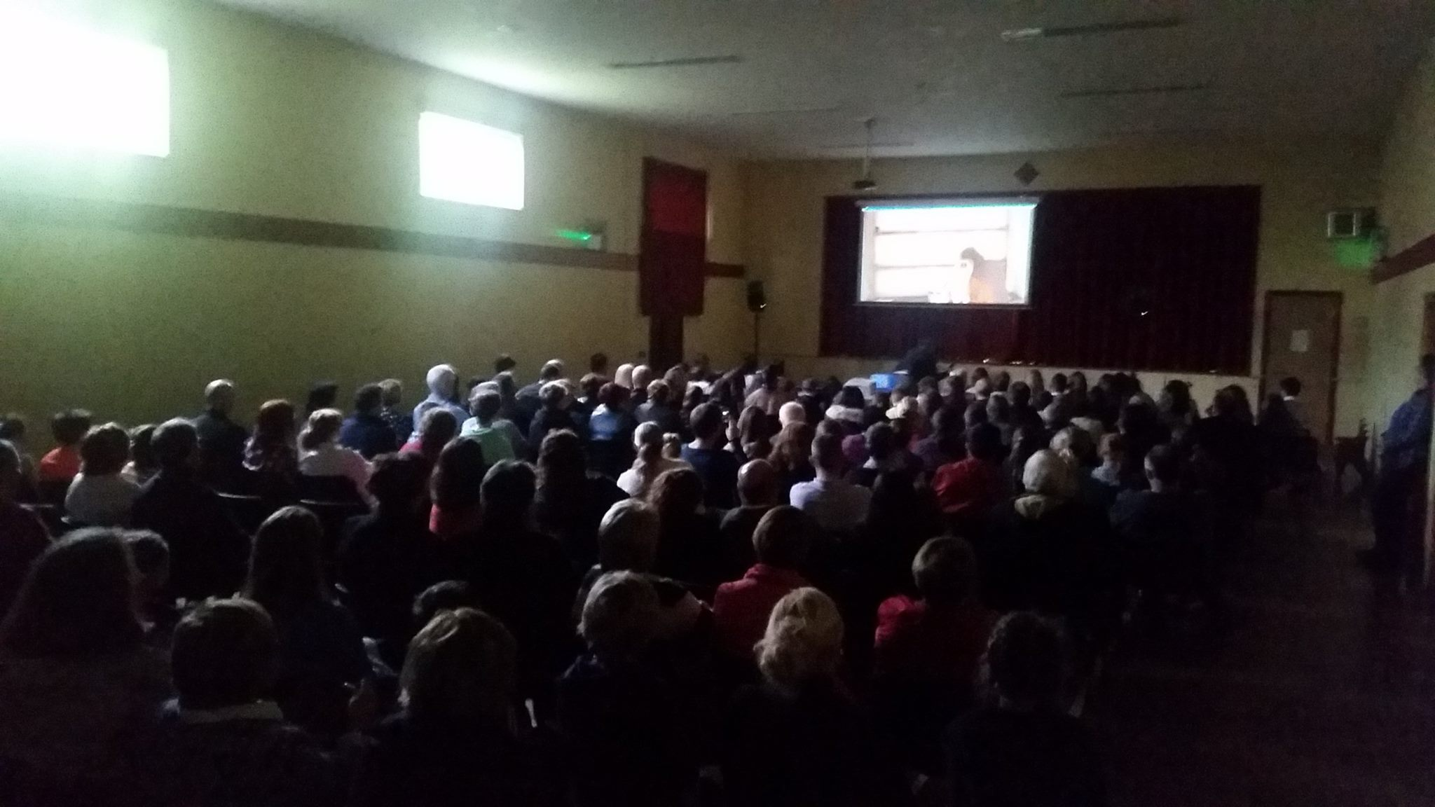 A packed house at Knocklong Community Hall for the launch of The Rescue DVD