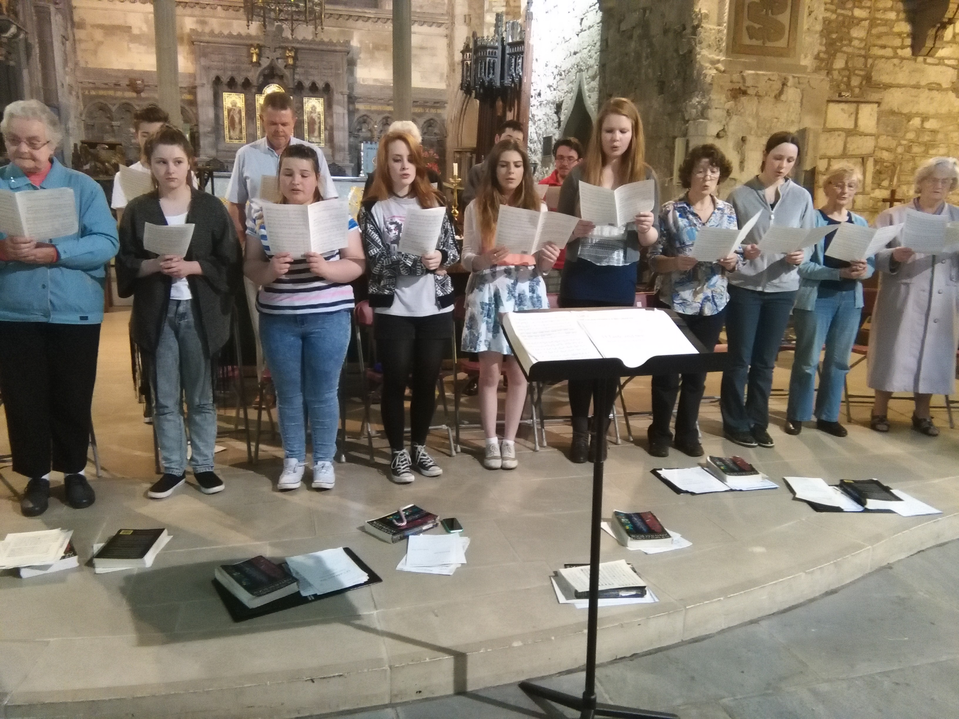 The St Mary's Cathedral Choir rehearse in the Limerick city's medieval cathedral