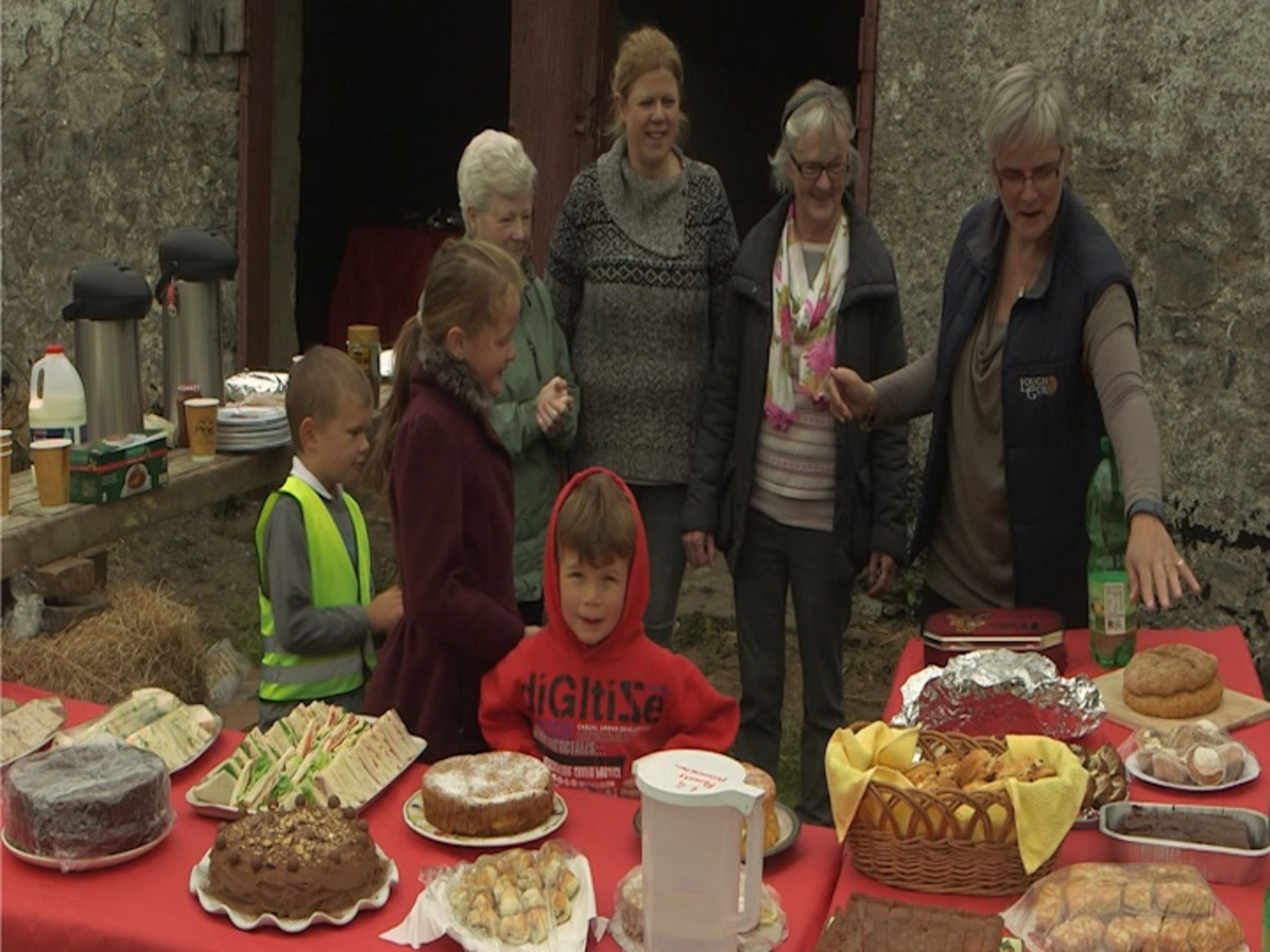 Volunteers prepare refreshments for the horses & riders at the Annual Lough Gur Ride